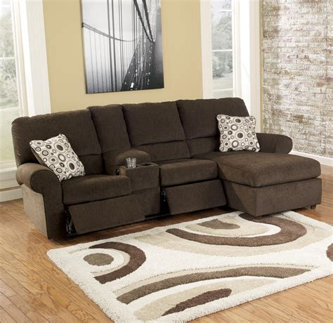 power reclining sectional sofa with chaise cybertrack chocolate power reclining sectional by