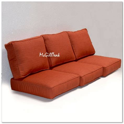 Sunbrella Settee Cushions by Outdoor Seating Sofa Cushion Sunbrella Cushions