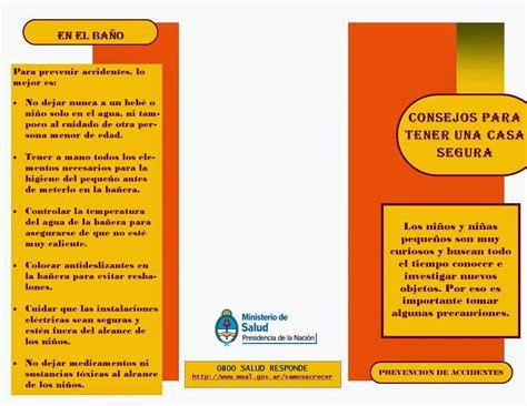 folleto de prevencin de accidentes las tics en el nivel inicial folleto informativo para las