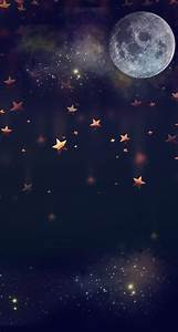 Free, Download, Moon, Falling, Stars, Good, Backgrounds, In, 2019, Iphone, Wallpaper, 744x1392, For, Your