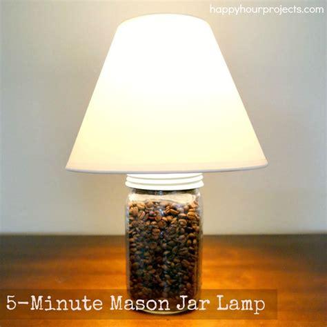 diy mason jar lamp aka  coffee bean lamp happy hour