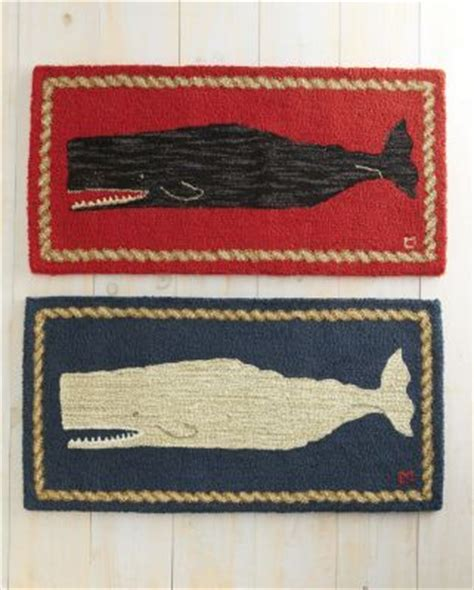 whale bath rug whale hooked wool rug for my nautical bathroom to put