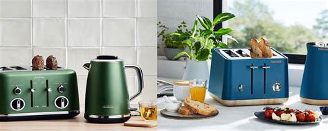 coloured toaster and kettle set stylish toasters and kettles 3 colour trends for your