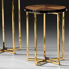 High End Italian Walnut Veneered Side Table
