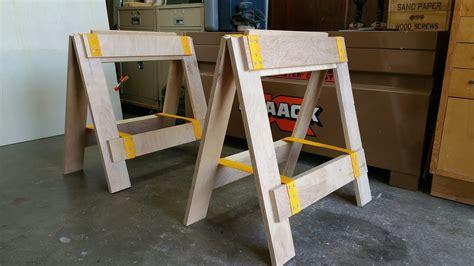 plywood sawhorsesassembly tableworkbenchcrosscut table