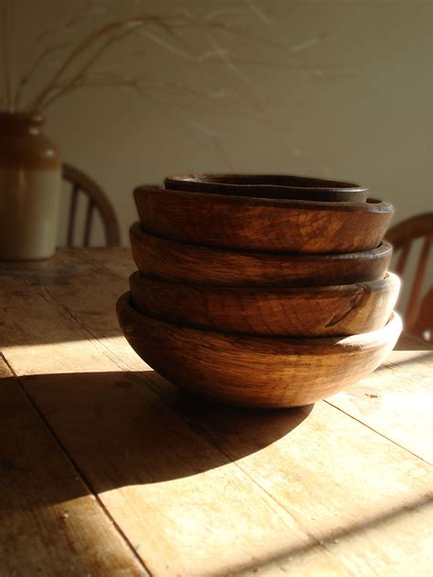 hand turned wooden bowl natural simplicity