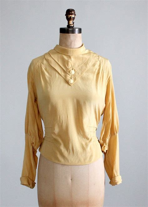 vintage  art deco silk blouse raleigh vintage