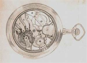 Vintage Pocket Watch Drawings