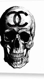 Chanel Skull Black Canvas Print / Canvas Art by Del Art