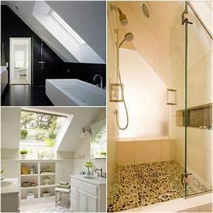 Badezimmer Gestalten Dachschräge : design ideen badezimmer mit dachschr ge wohnen pinterest pelz und design ~ Markanthonyermac.com Haus und Dekorationen