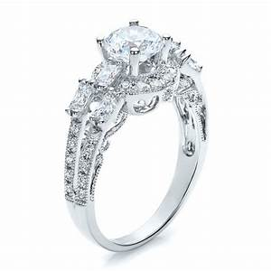 split shank baguette diamond engagement ring vanna k 100071 With split shank wedding rings