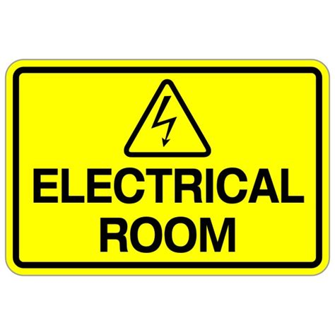 """""""electrical Room"""" 12″ X 18″ Safety Sign  Bc Site Service"""