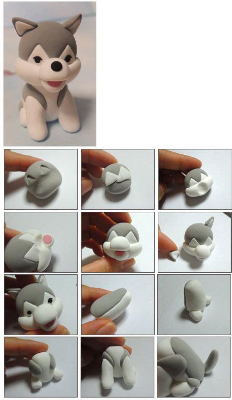 como hacer a un perro siberiano en porcelana fria