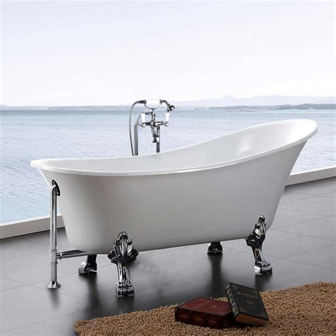 Acrylic Tub by Hibana 69 Quot Acrylic Clawfoot Tub With Faucet And Handheld