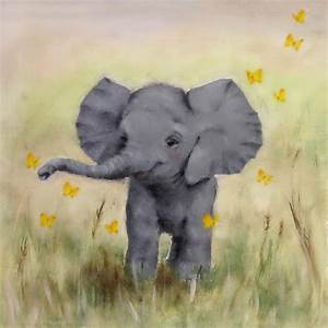 Safari Elephant Painting Nursery Art Painting by Junko Van ...