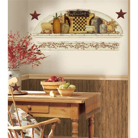 primitive arch giant wall decals country kitchen stars
