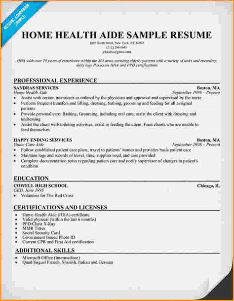 How To Make A Resume For Nursing Assistant by 10 Health Care Aide Resume Cover Letter Invoice Template