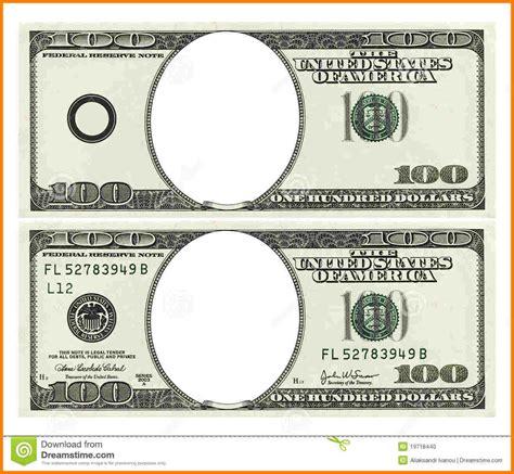 Money Template 10 Blank Money Bill Template Sle Travel Bill