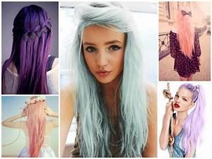 Couleur Cheveux Pastel : couleur mauve pastel cheveux coiffures la mode de cette saison ~ Melissatoandfro.com Idées de Décoration