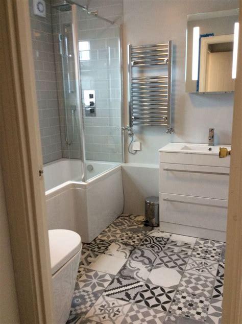 Funky Bathroom Ideas by These Funky Patterned Floor Tiles Look Fantastic Against