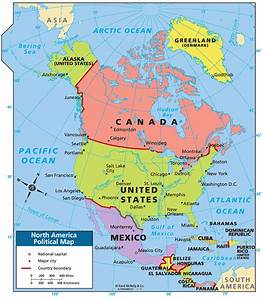 north america political map - Google Search | geography ...
