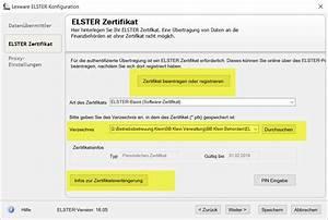Elster Steuer Berechnen Und Versenden : lexware lohn zertifikat im elsteronline portal verl ngern oder steuernummer auslesen lern ware ~ Themetempest.com Abrechnung