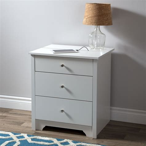 Shore Nightstand by South Shore Vito Nightstand With Charging Station And