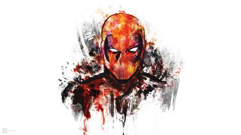 Deadpool, Digital Art, White Background, Artwork