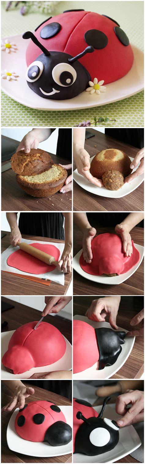 jeux de cuisine de de gateau gâteau coccinelle décor en pâte à sucre diy tutoriel