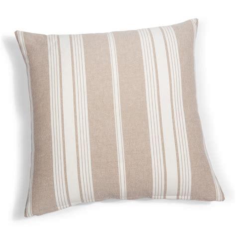 coussin de canapé 60 x 60 coussin à rayures en coton 60 x 60 cm air de campagne