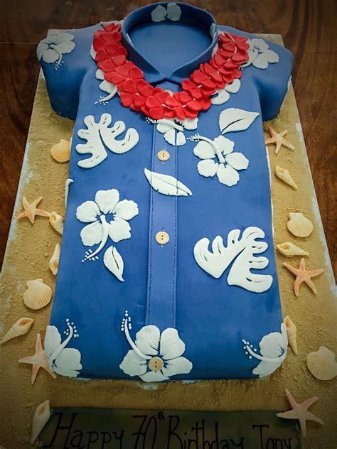 hawaiian shirt cake party   luau birthday cakes