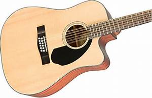 Fender Cd-60sce Right Handed 12 String Acoustic-electric Guitar - Dreadnaught Body