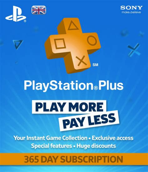Get your ps plus membership. PlayStation Plus Card 1 Year Subscription PS4   Zavvi