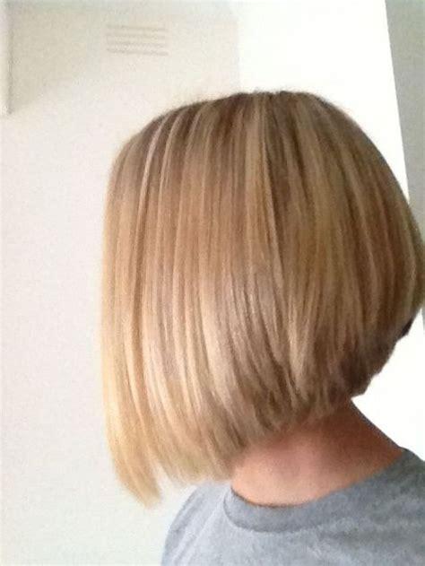 short stacked bob haircuts back view medium length stacked
