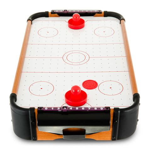 miniature tabletop air hockey table top game pucks ebay