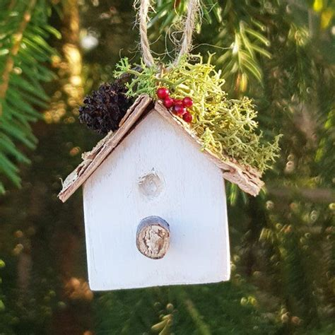 bird house wooden christmas tree ornament wooden christmas