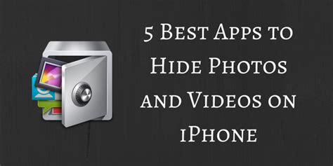 how to hide photos iphone 5 best free apps to hide photos and on iphone