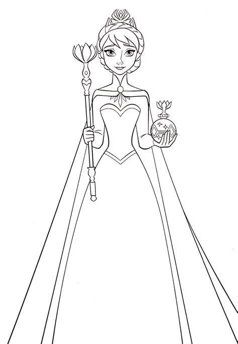 descargar   elsa crown coloring page