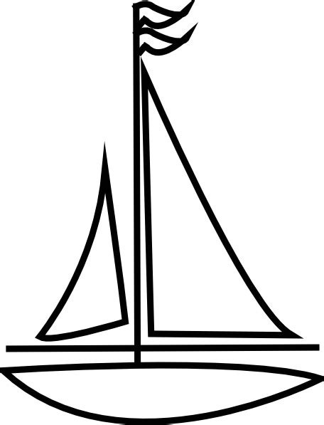 Boat Drawing Outline by Sailboat Outline Clip At Clker Vector Clip