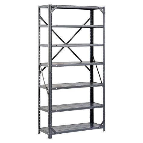storage racks home depot edsal 60 in h x 30 in w x 12 in d steel canning
