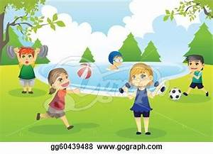 Kids exercising in park   Clipart Panda - Free Clipart Images