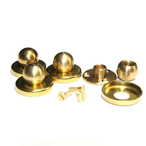 solid brass ball finial c w 3 hole fixing plate cover