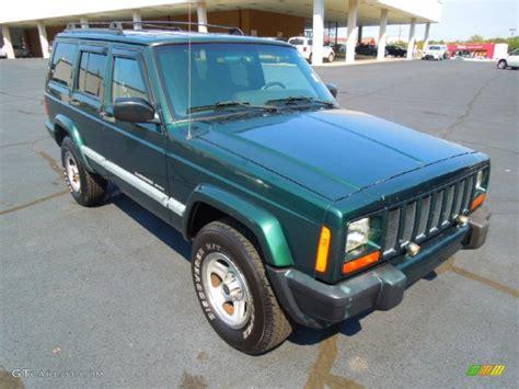 jeep cherokee green 2000 1999 forest green pearl jeep cherokee sport 4x4 71275401