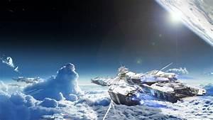 Star Citizen Space Bengal Class Carrier Clouds Lens