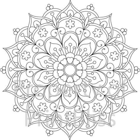 Image result for adult colouring mandala flower patterns