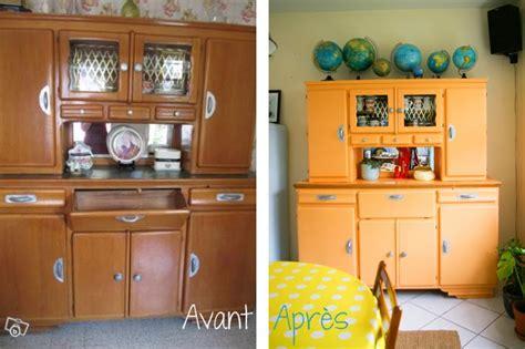 retaper armoire de cuisine avant apres le buffet