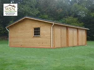 Garage Bois En Kit : garage en bois 54m 6000x9000 44mm ws712 wsn chalet ~ Premium-room.com Idées de Décoration