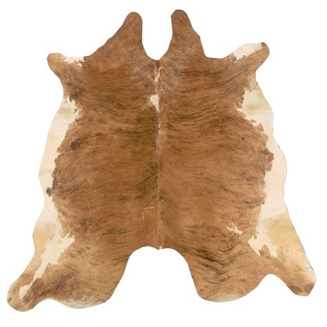 Cowhide Rugs by Linon Home Decor Cowhide Beige And White 7 Ft X 7 Ft