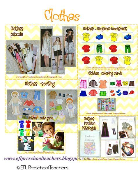 Eslefl Preschool Teachers Clothes Worksheets And Flashcards For Esl