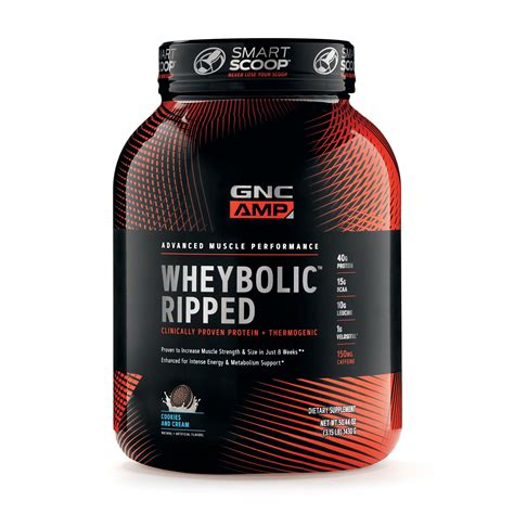 Amazon.com: GNC AMP Wheybolic Ripped Whey Protein Powder